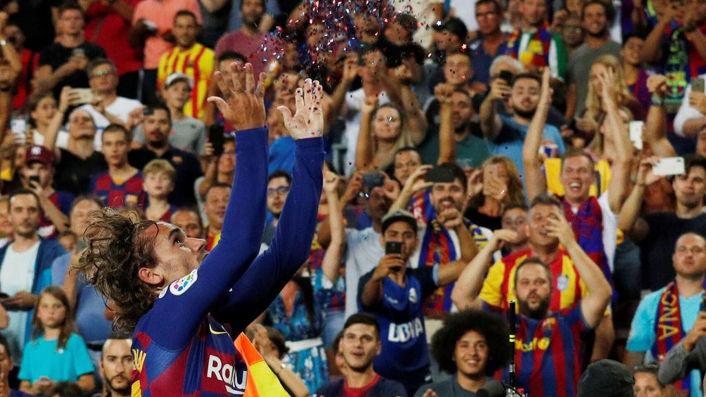 Griezmann y su celebración con purpurina: El francés imita a Lebron James tras su segundo gol al Betis