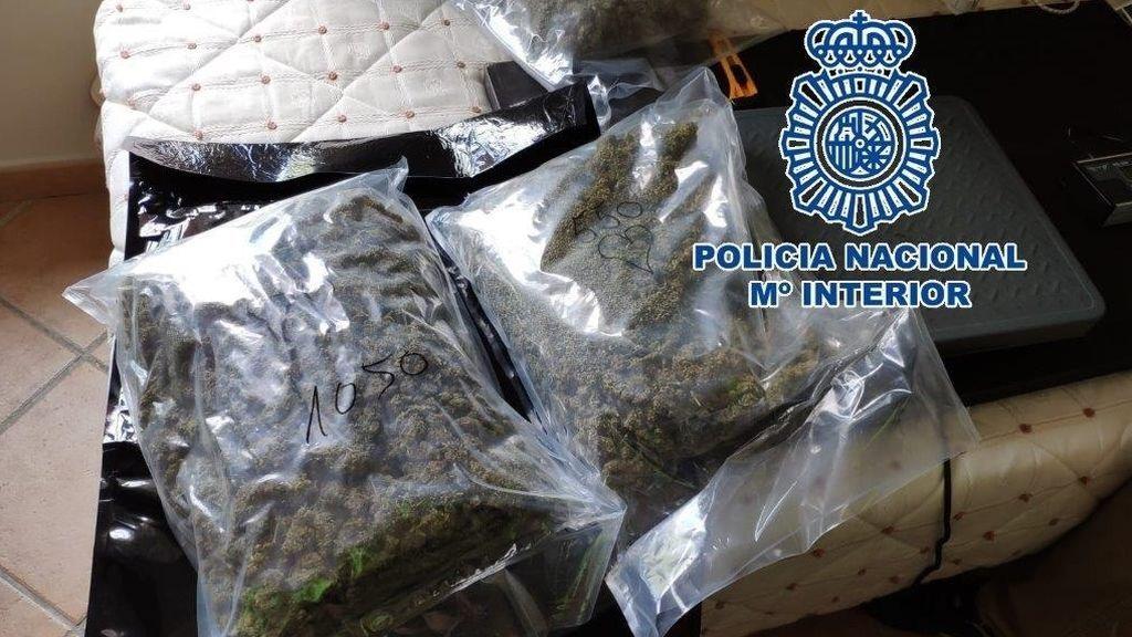 Desarticulan en Málaga una red criminal de envío de marihuana por agencias de mensajería