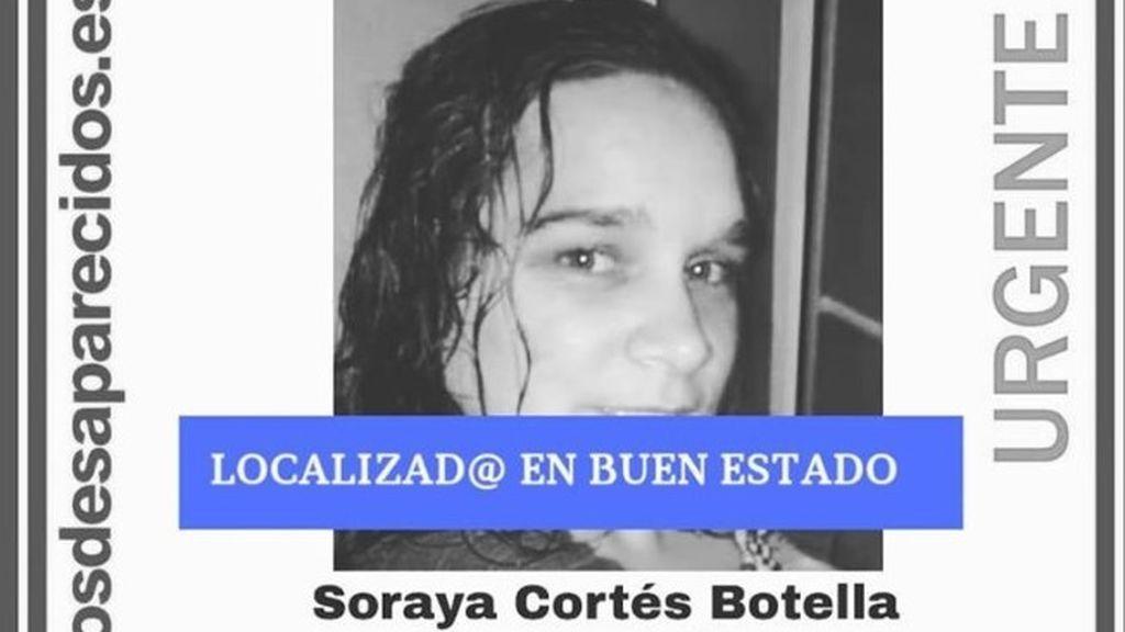 Localizan en buen estado a Soraya Cortés, desaparecida desde el 19 de agosto en Murcia