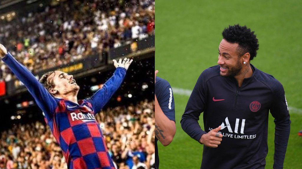A Neymar 'le gustan' las publicaciones de Griezmann y Sergi Roberto celebrando la victoria del Barça ante el Betis