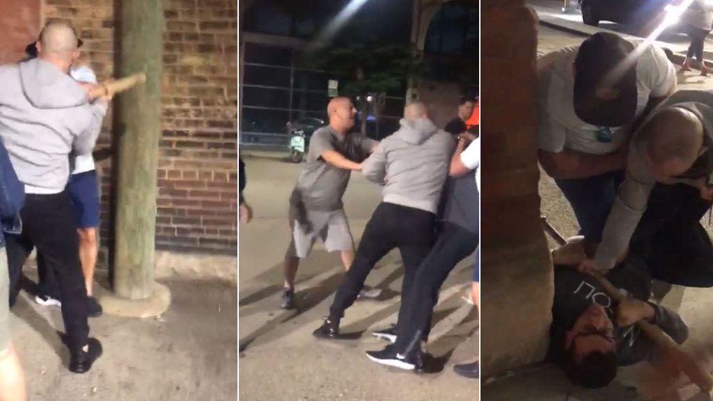 Un luchador de la UFC somete a un hombre que quiso agredir a su familia con un bate de béisbol