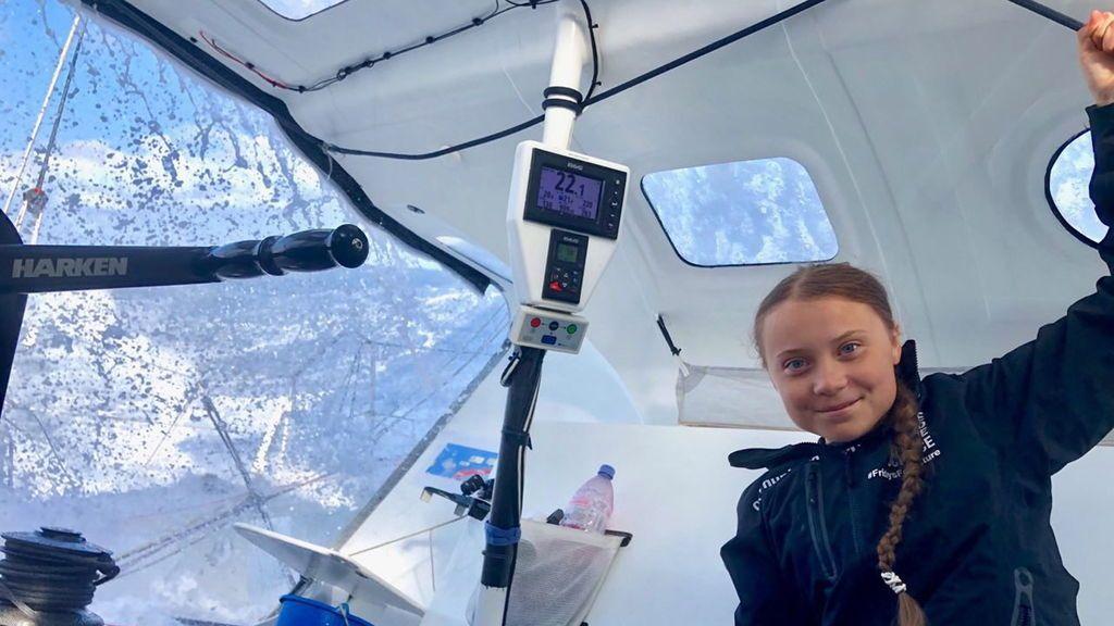 Greta Thunberg llega a Nueva York tras dos semanas de travesía por el Atlántico