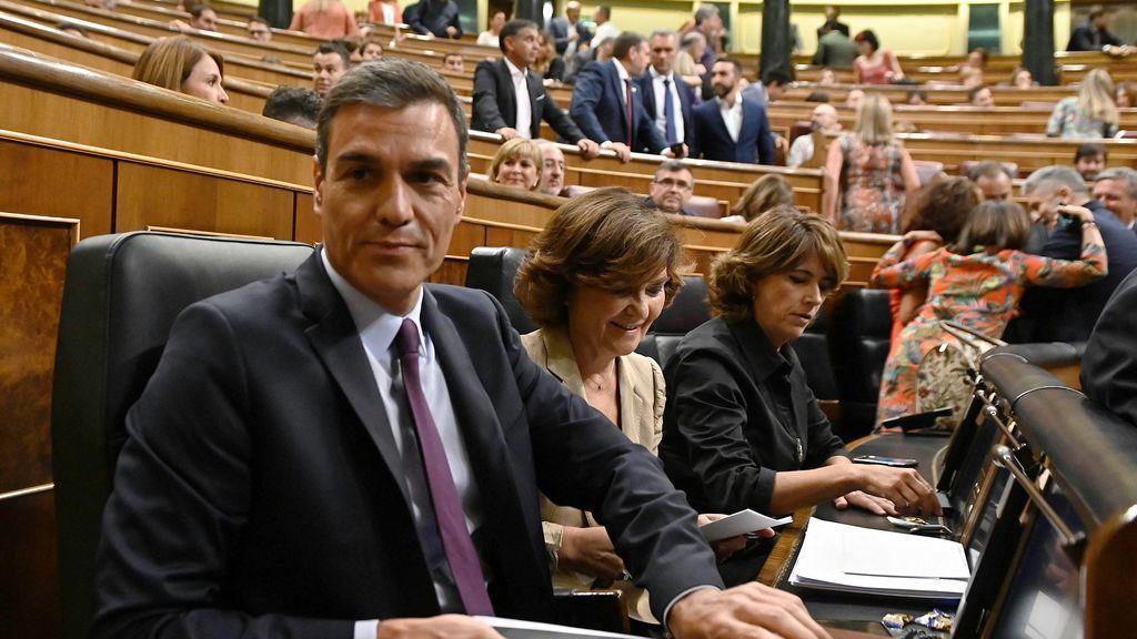 """Sánchez, """"esperanzado"""", pide """"altura de miras a todos"""" para no verse abocado a convocar elecciones"""