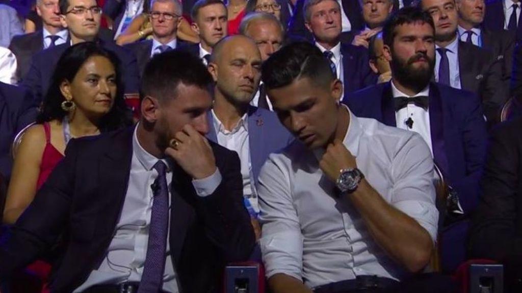 Cristiano Y Messi juntos en el sorteo de la Champions