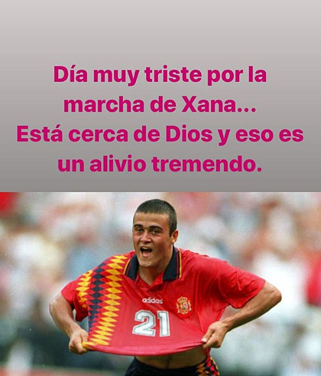 El mensaje de Cañizares a Luis Enrique tras el fallecimiento de Xana.