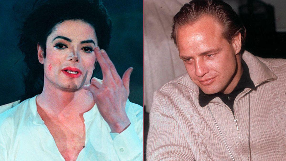Michael Jackson y Marlon Brando