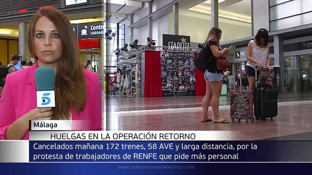 Renfe cancela unos 170 trenes este domingo de 'operación retorno' ante una nueva jornada de paros