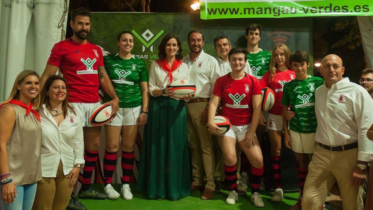 El 'Rugby Mangas Verdes Alcalá' se presenta con el apoyo de Díaz Ayuso, nueva presidenta de la Comunidad de Madrid