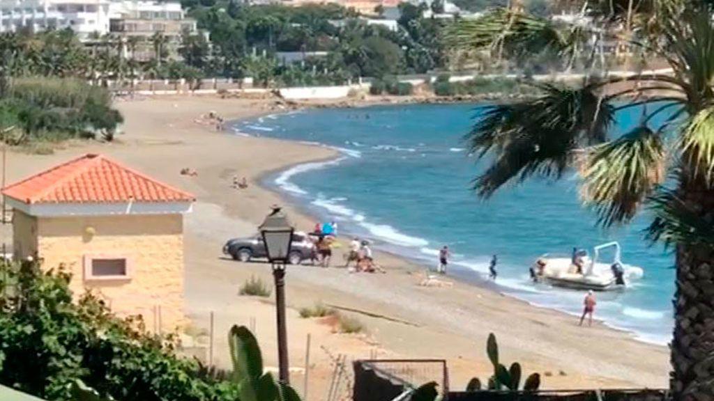 Desembarco de droga en una playa de Estepona