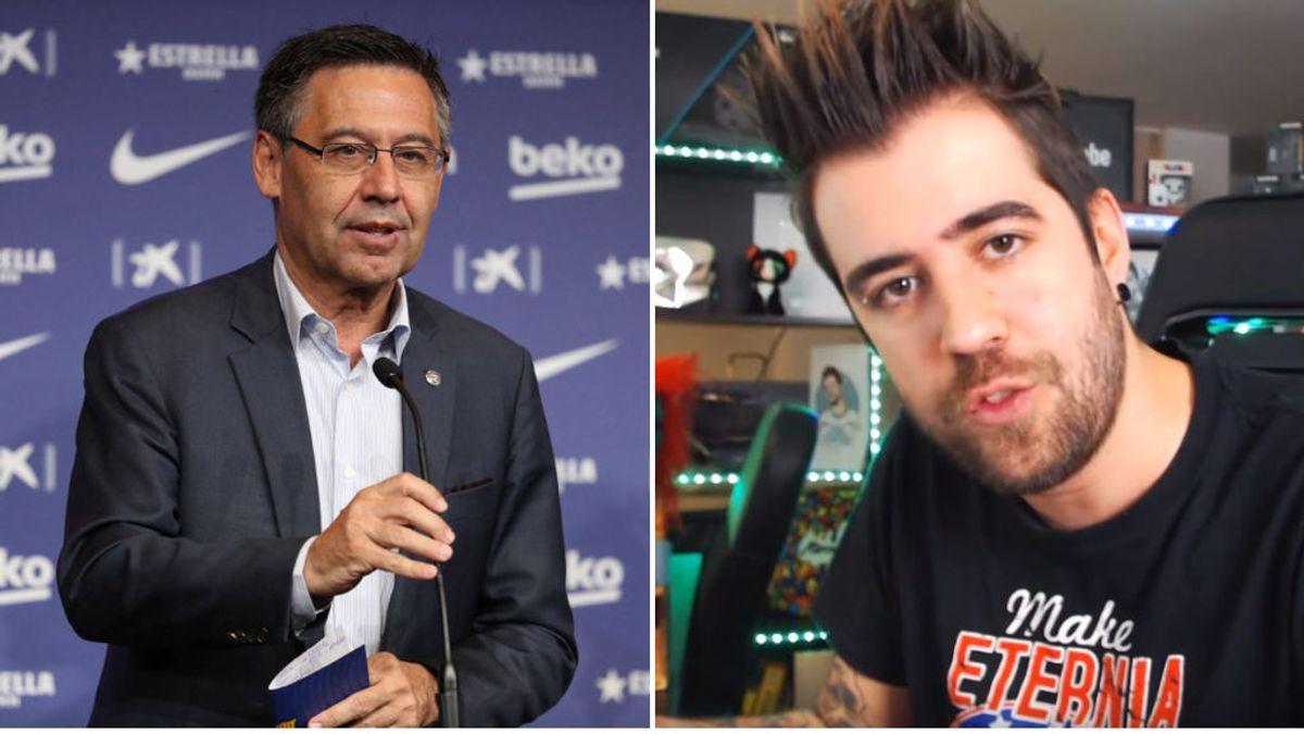 """El youtuber Auronplay saca a la luz una denuncia del presidente Bartomeu por llamarle """"Nobita"""" y amenazarle con la 'Operación Neymar'"""