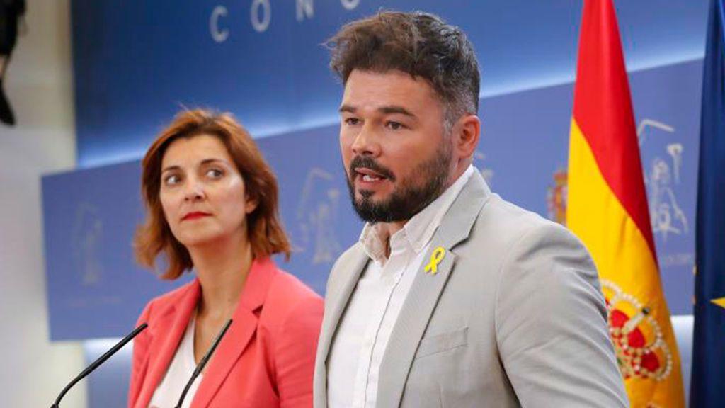 Rufián garantiza su apoyo a Sánchez