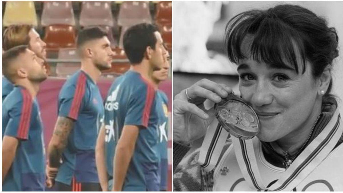 La selección española homenaje a la fallecida Blanca Fernández Ochoa con un emotivo minuto de silencio