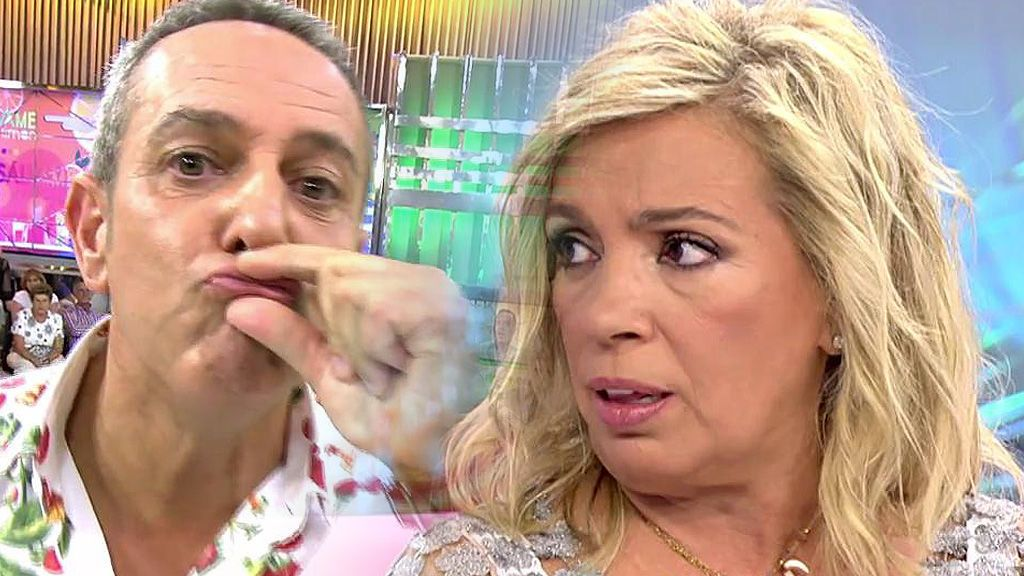 Víctor Sandoval le deja las cosas claras a Carmen Borrego