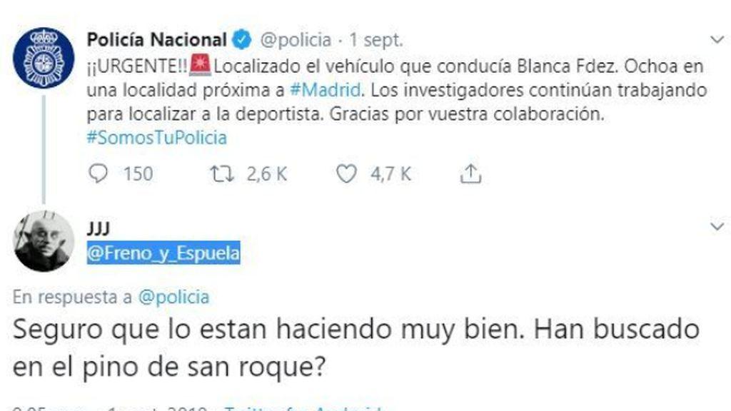 El misterioso y premonitorio tuit sobre el lugar de muerte de Blanca Fernández que revoluciona las redes