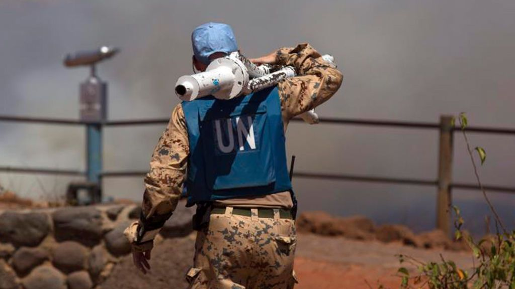 Un soldado de Naciones Unidas