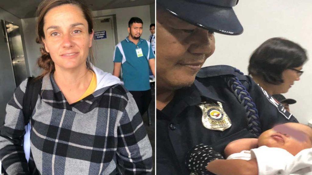 Detenida con un bebé de días escondido en su equipaje de mano en el aeropuerto de Manila intentado salir del país