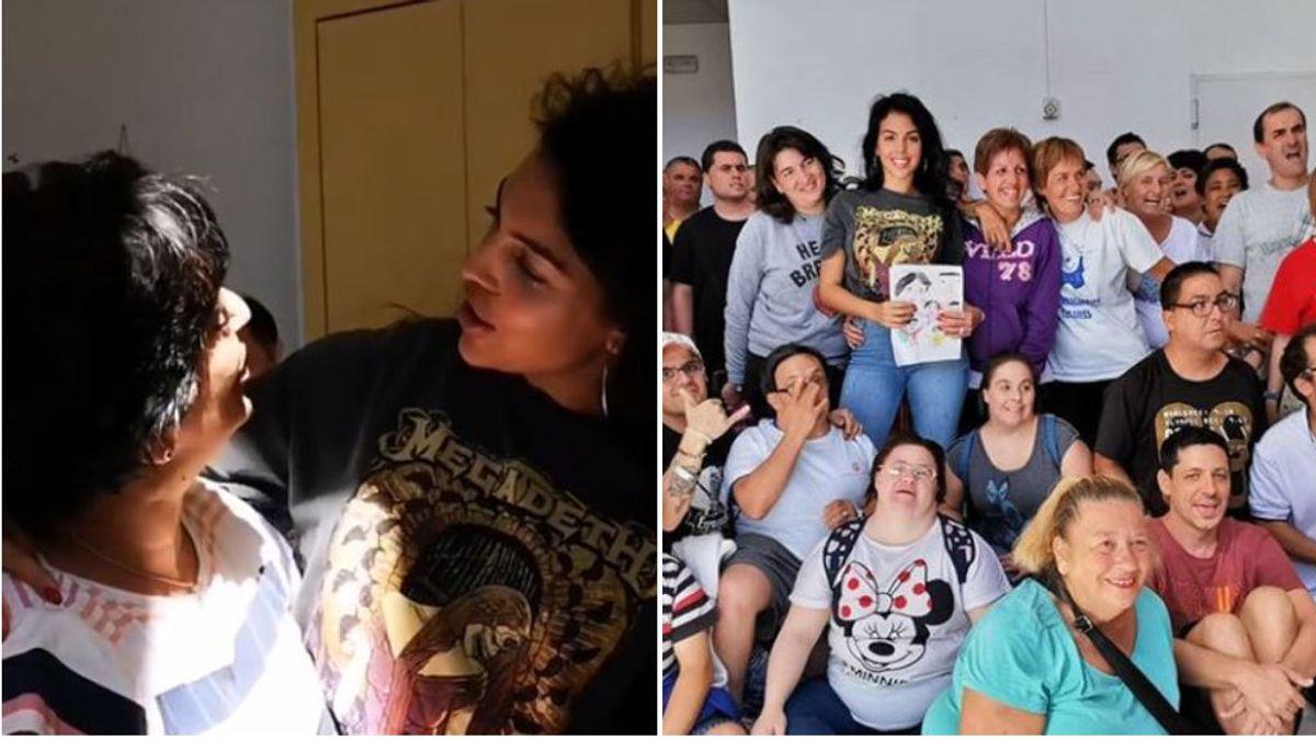 """Georgina Rodríguez se emociona tras visitar una fundación para personas con diversidad funcional: """"Me han hecho sentir muy feliz"""""""