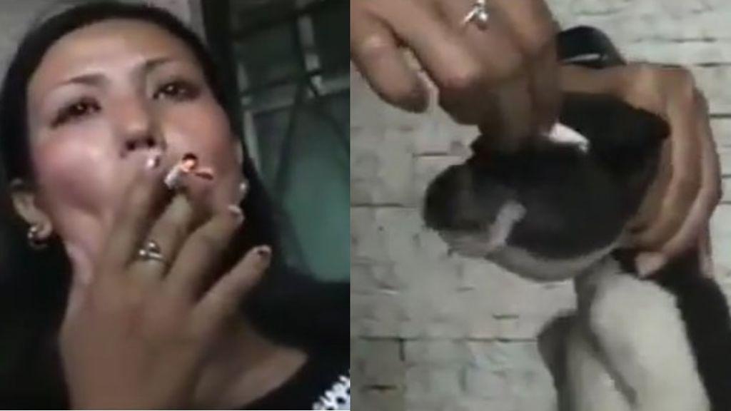 Indignación en la Red por un vídeo de maltrato animal: una mujer apaga un cigarrillo en los ojos de un cachorro