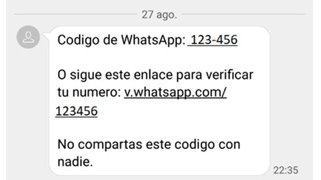 Saludos de Whatsapp,  el nuevo timo que pide verificar tu cuenta por SMS