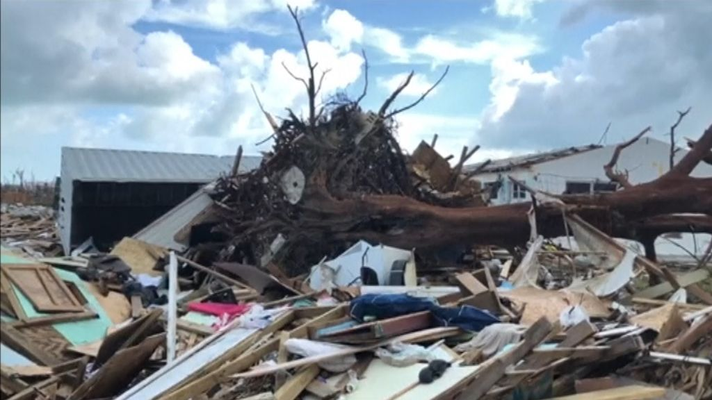 El 45% de los hogares en Bahamas han quedado arrasados tras el paso del huracán Dorian