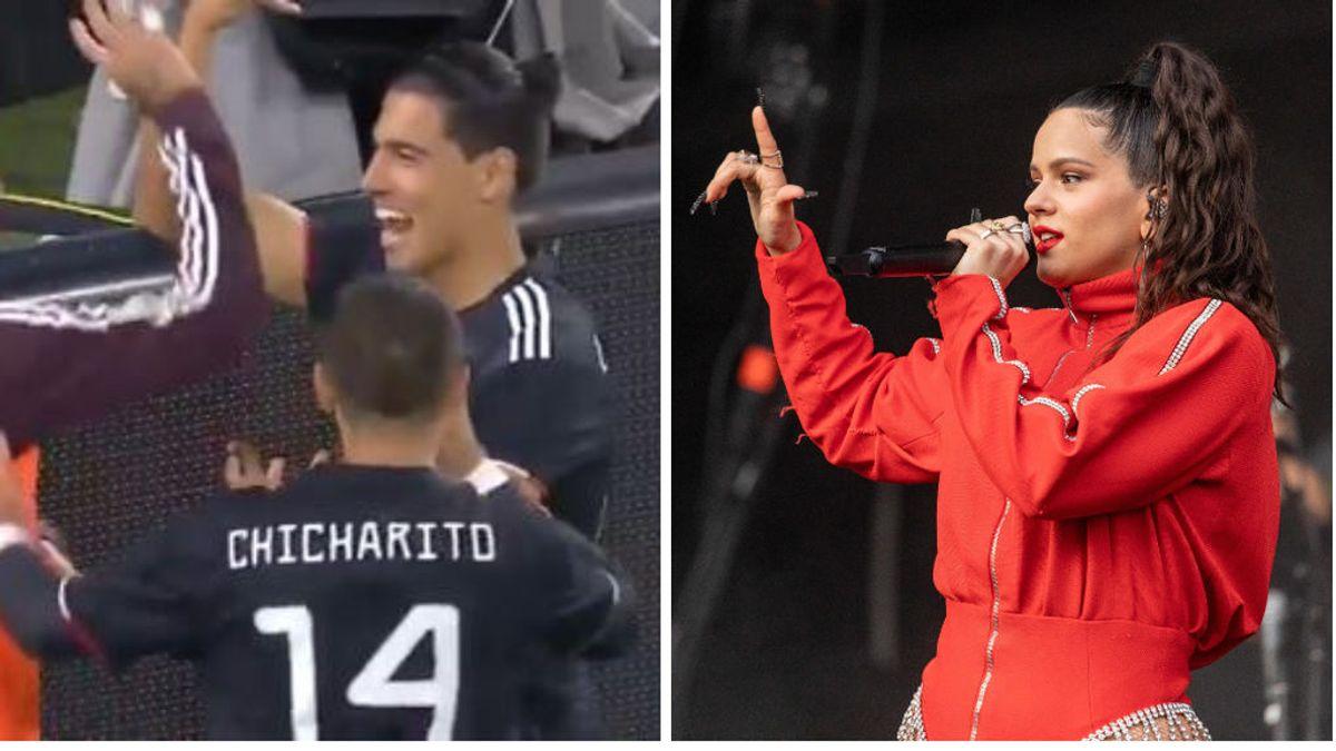 México celebra el gol de Erick Gutierrez a Estados Unidos recordando a la cantante Rosalía