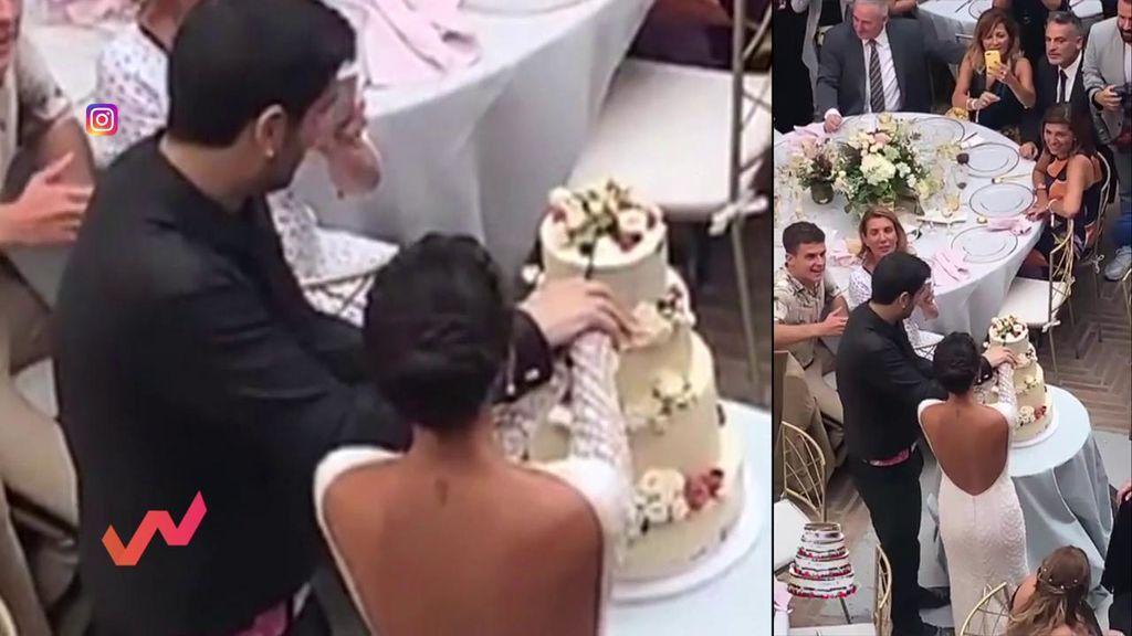 Primeras imágenes de la boda de Melendi y su esposa