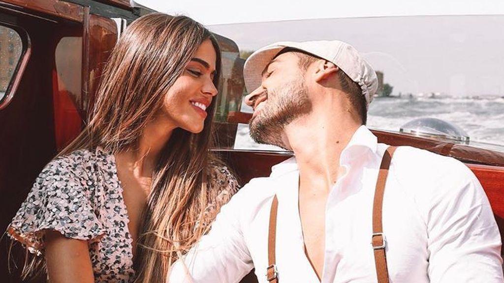 """Violeta y Fabio posan por primera vez en la alfombra roja del Festival de Venecia: """"Inolvidable"""""""