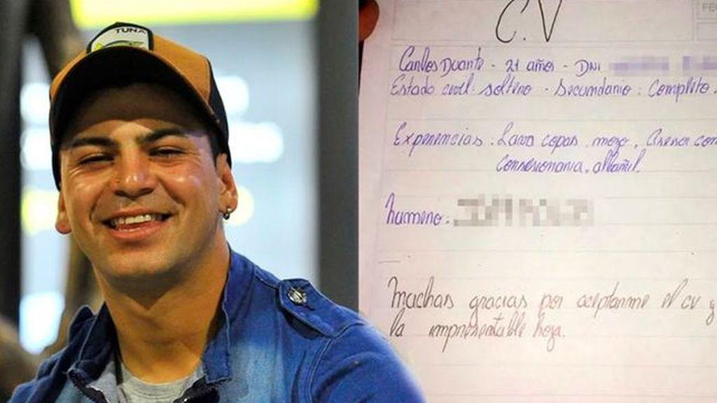 La inspiradora historia de Carlos Duarte: escribió a mano su CV, consiguió el trabajo y ya ha ascendido