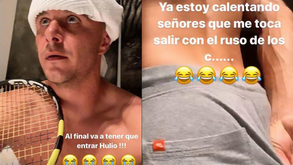 """El show de Joaquín viendo Nadal ganar su 19º Grand Slam: de su imitación, a """"El 'cortao' que te enseñé Rafa, pisha"""""""