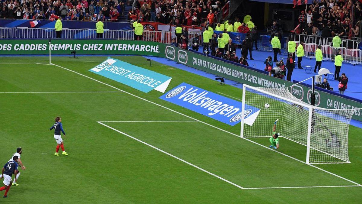 """La escusa de Griezmann tras fallar un penalti con Francia: """"Fallé porque mi mujer no me estaba viendo"""""""
