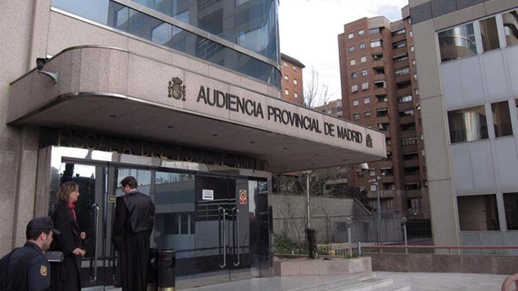 Entrada de la Audiencia Provincial de Madrid