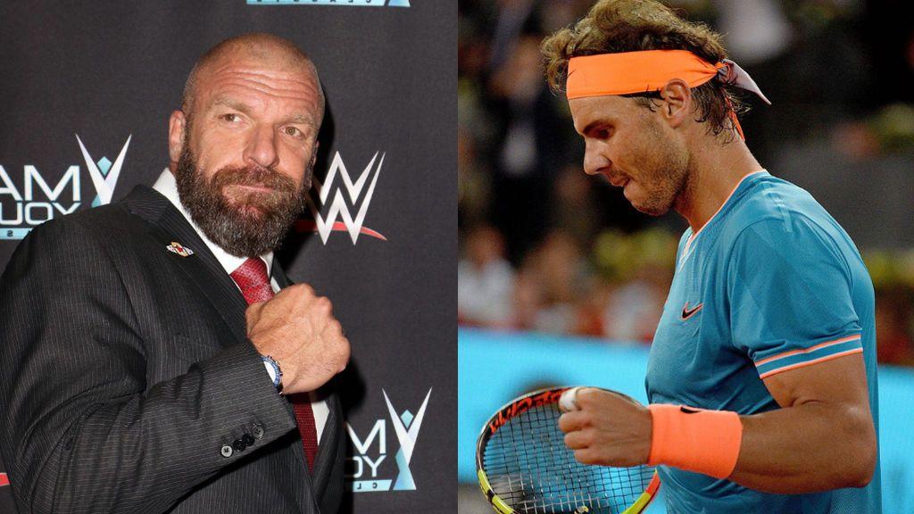 Triple H regala un cinturón de campeón de la WWE a Rafa Nadal tras ganar el US Open