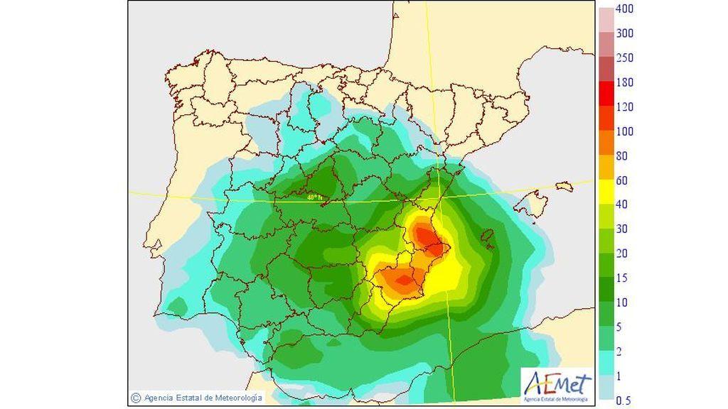 Precipitación media prevista para el viernes, 13 de septiembre / Aemet