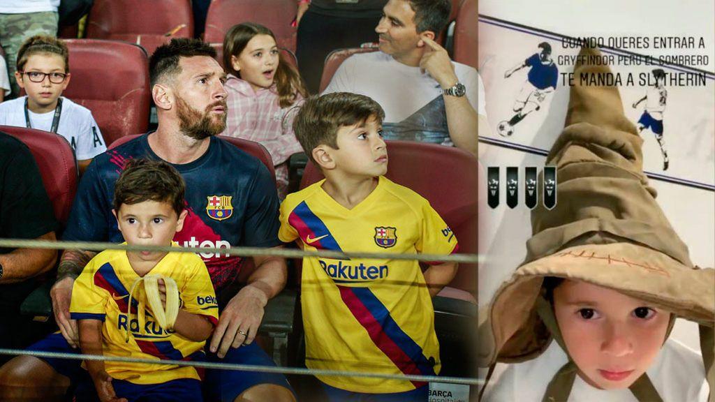 El hijo de Messi rompe a llorar tras la elección de casa por el sombrero seleccionador de Harry Potter