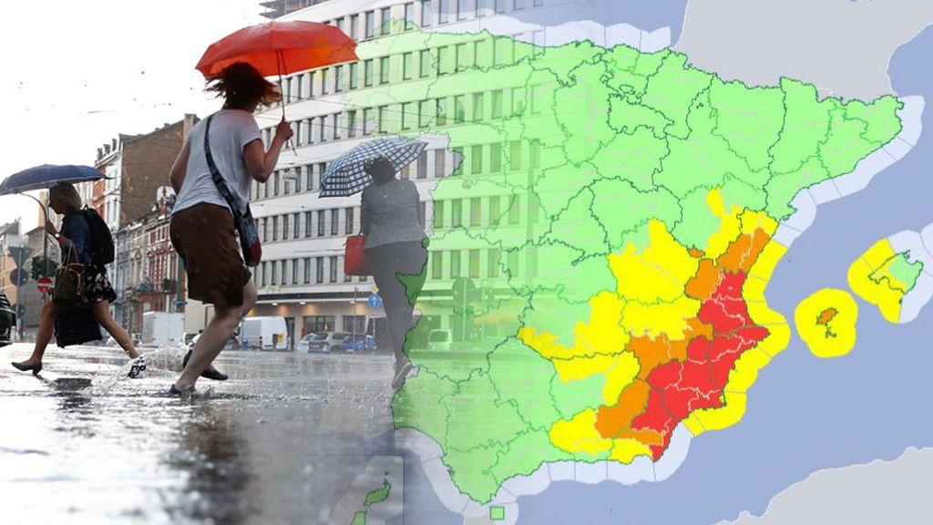 Lo más complicado de la DANA, el jueves y viernes: aviso rojo en Valencia, Alicante, Murcia y Almería