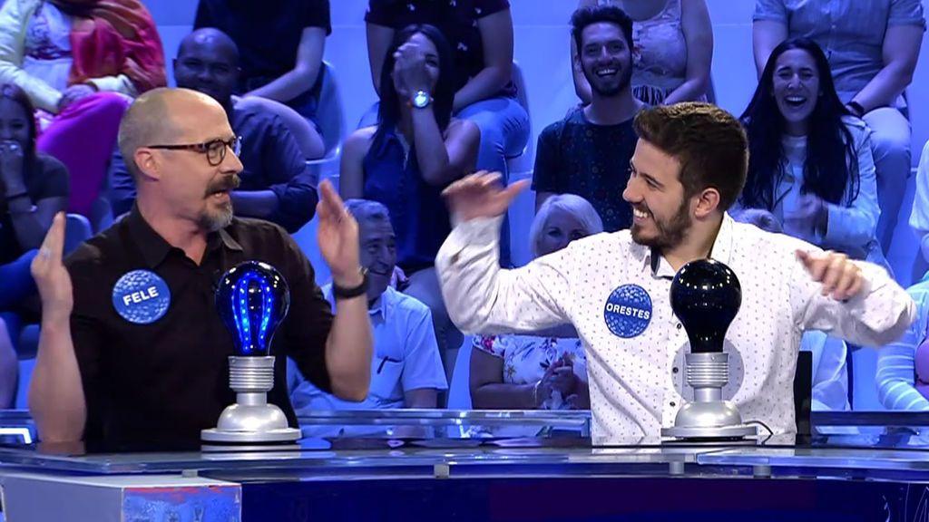 """Fele Martínez se pone a cantar hip-hop y Orestes hace el baile """"del gato mojado"""""""