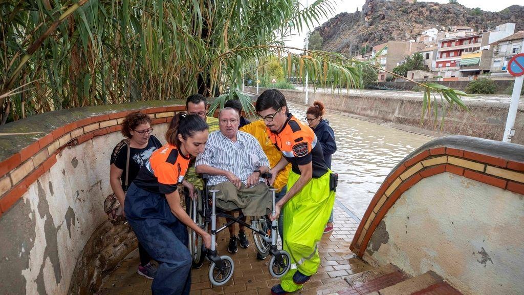 Imágenes del devastador temporal que anega Alicante y Murcia