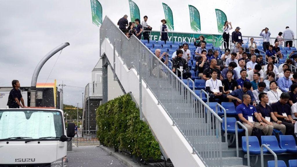 Nieve para enfriar a los espectadores en Tokyo 2020: se prueban las primeras medidas contra las altas temperaturas