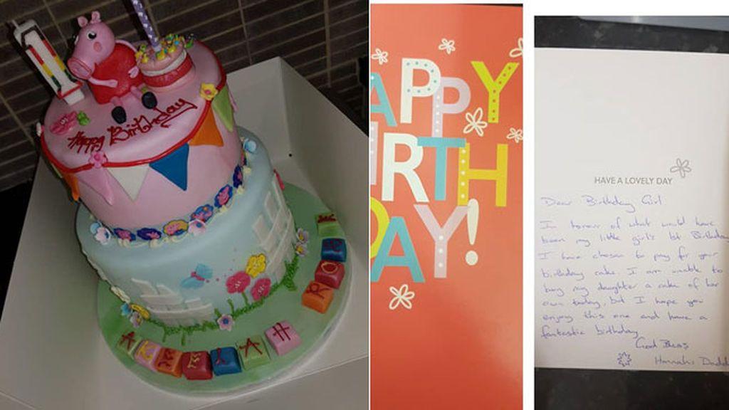 Un desconocido paga la tarta de cumpleaños una niña en memoria de su hija fallecida