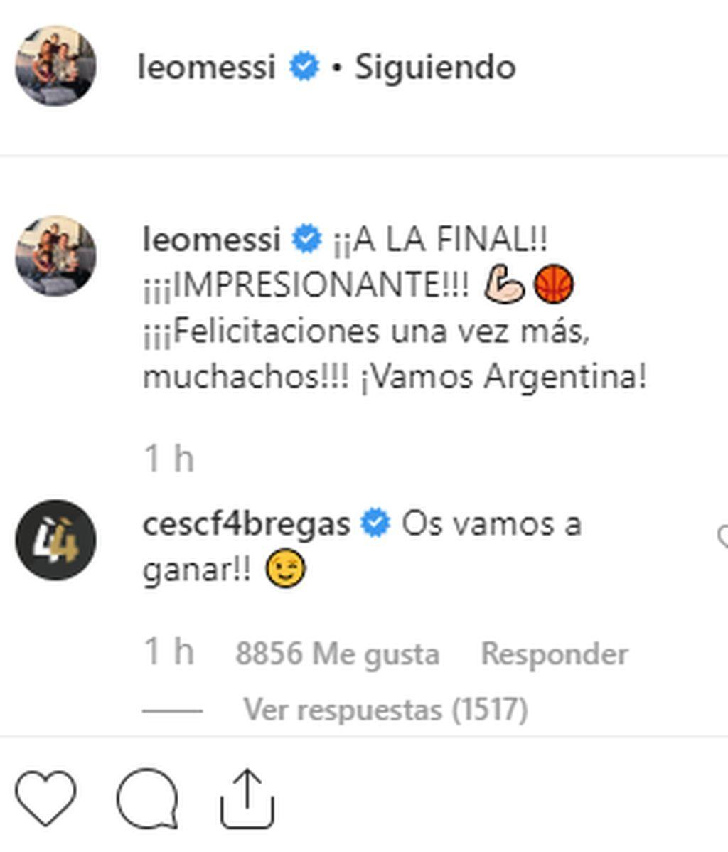 Leo Messi y Cesc Fábregas se 'pican' en redes calentando la Final de la Copa del Mundo