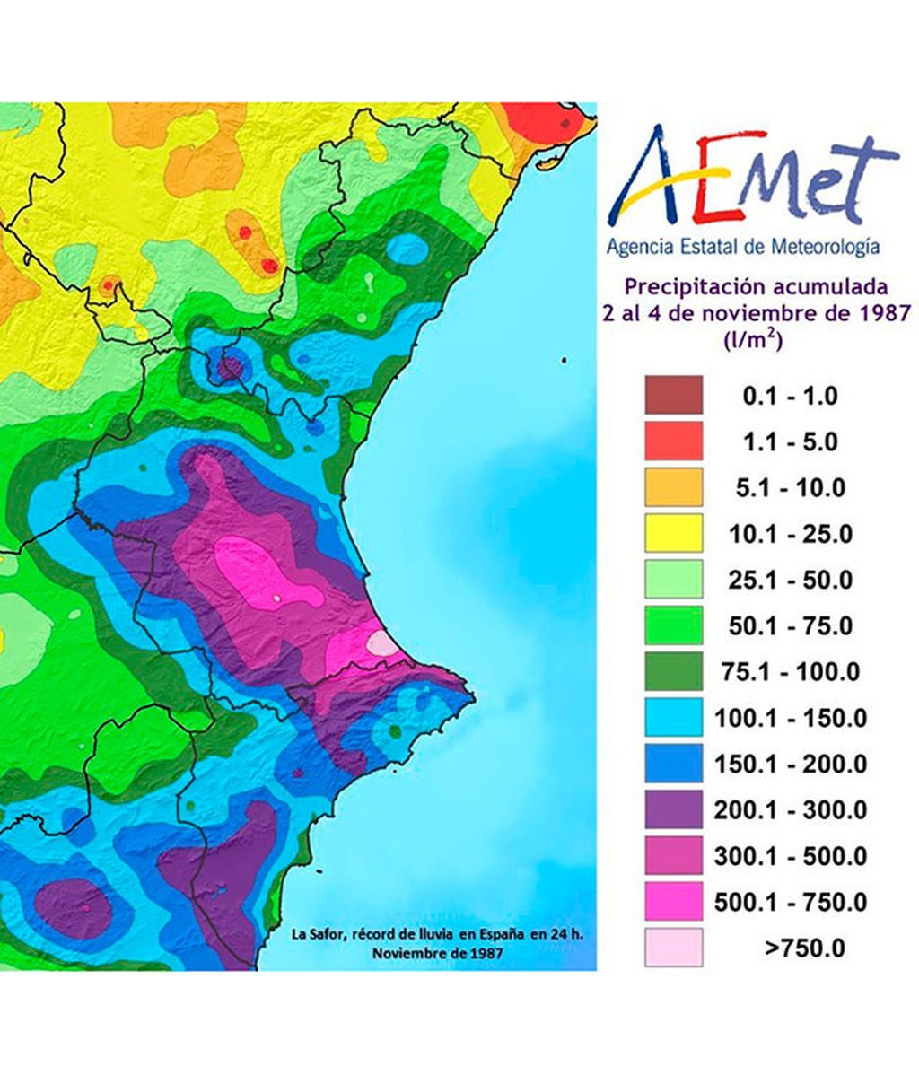 Mapa precipitaciones AEMET