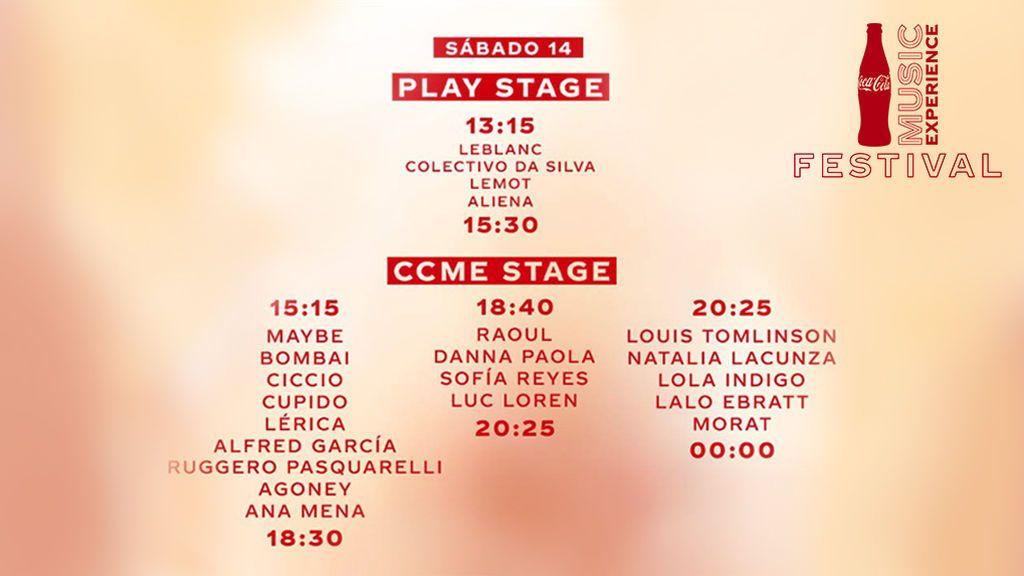Cocacola music_ horarios sabado