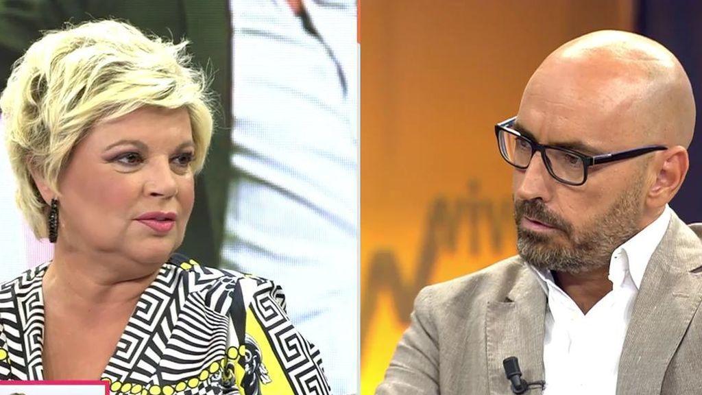 """La polémica entre Terelu y Diego Arrabal:  """"A mí no me hace falta llorar delante de las cámaras"""""""