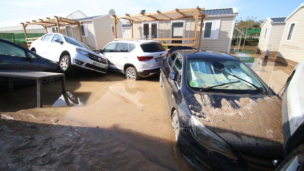 El Camping de Cabo de Gata (Almería) inundado a consecuencia de las fuertes lluvias