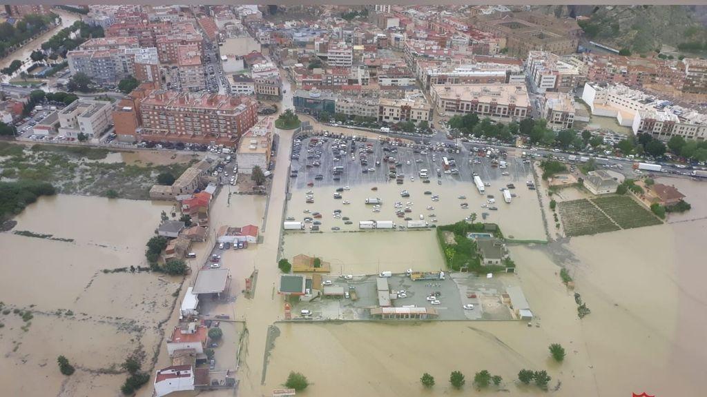 Inundaciones en Orihuela durante el temporal