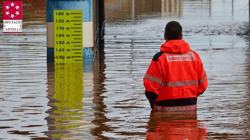 Inundación en Nules durante el temporal