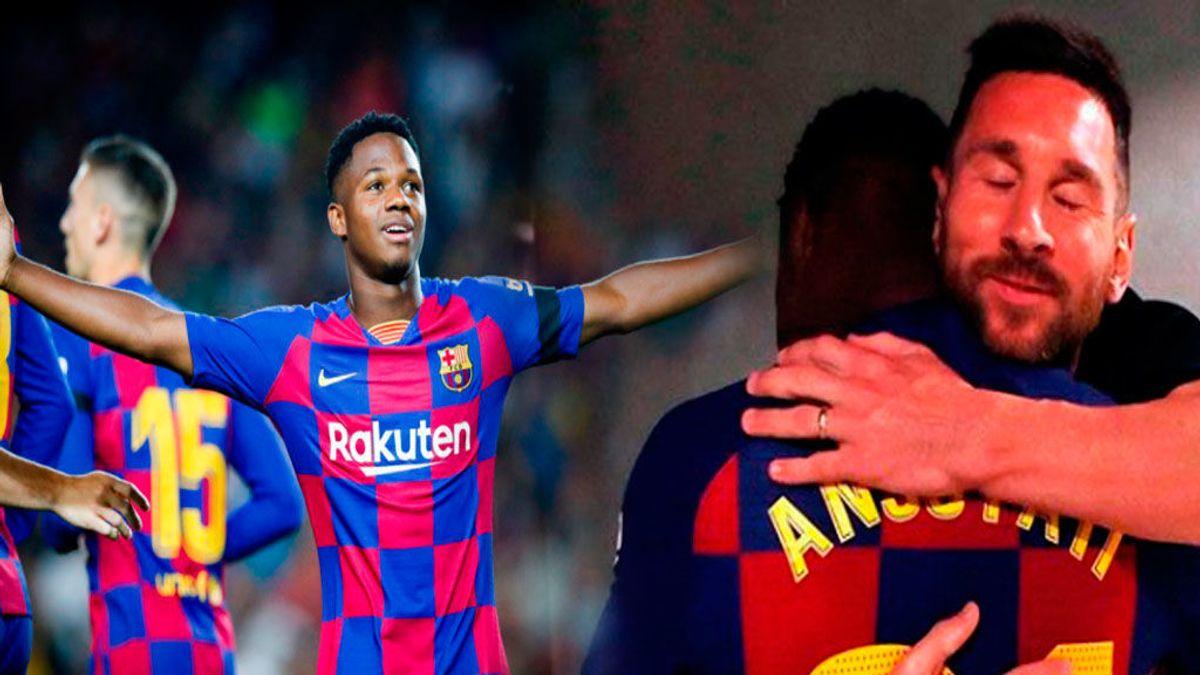 A falta de Messi, bueno es Ansu Fati: Gol y asistencia en su primer partido como titular en el Camp Nou