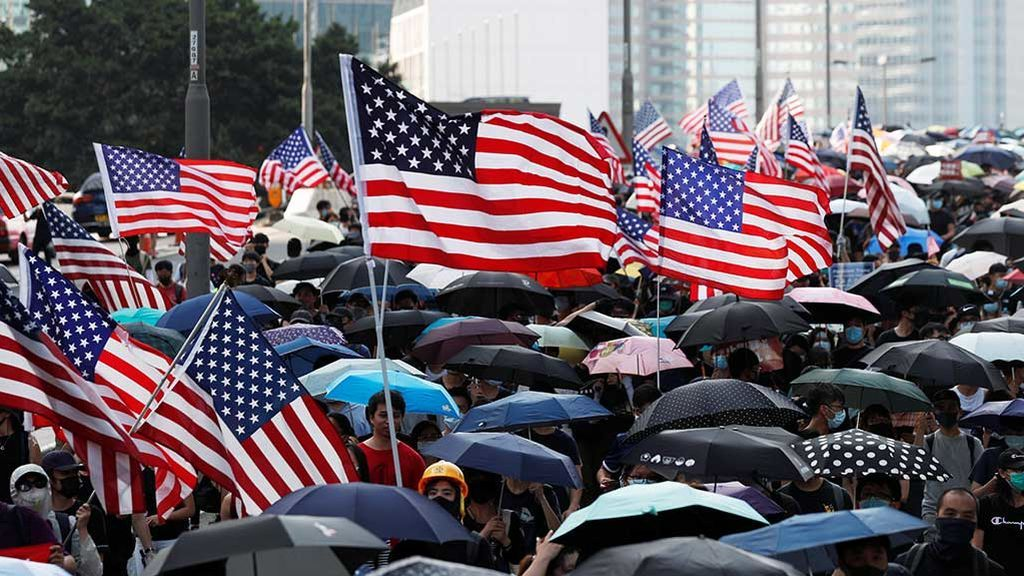 20190915 INT HONG KONG BANDERAS EEUU