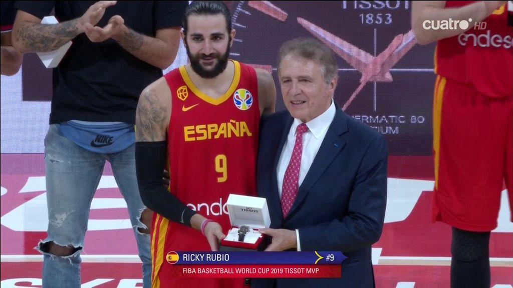 Ricky Rubio, MVP de la Copa del Mundo FIBA; Marc Gasol, presente en el mejor quinteto del torneo