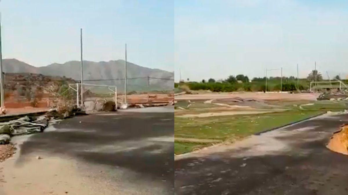 El Campo de Benferri, destrozado por la DANA: El presidente afirma que el estadio Luis Rocamora ya no existe